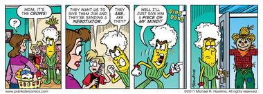 Scare Tactics - an Amaizing Jim Corn comic from Prankster Comics