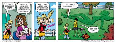 Landscape Artist - an Amaizing Jim Corn comic from Prankster Comics