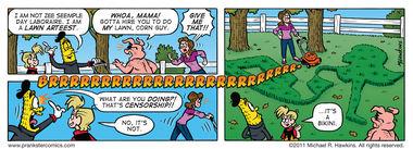 A Decent Job - an Amaizing Jim Corn comic from Prankster Comics