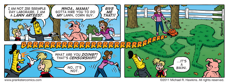 A Decent Job - an Amaizing Jim Corn comic from Prankster Comics